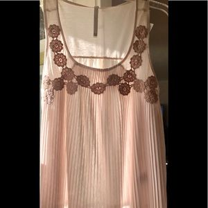 LC sheer baby doll sleeveless lace blouse NWT